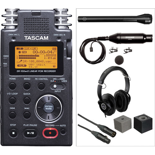 Tascam DR-100mkII Handheld and Lavalier Interviewer Kit