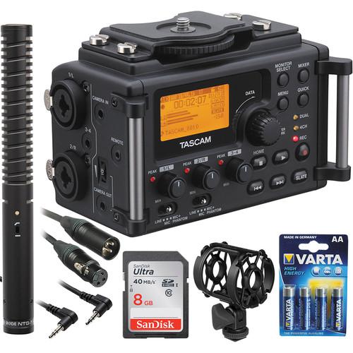 Tascam DR-60D 4-Channel Digital Recorder and Rode NTG-1 Shotgun Mic Kit