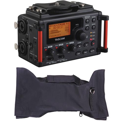 Tascam DR-60DmkII Recorder for DSLR with Rain Cover Kit