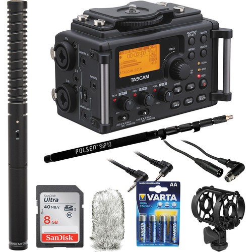 Tascam DR-60D with Rode NTG-2 Shotgun Mic and Boompole Kit