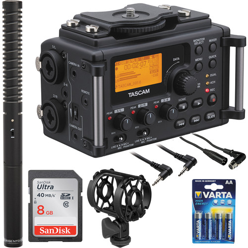 Tascam Tascam DR-60D with Rode NTG-2 Shotgun Mic Kit