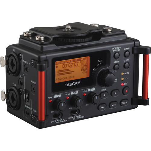 Tascam DR-60DMKII 4-Channel Portable Recorder for DSLR & Rode NTG2 Shotgun Mic Kit with Boompole & Accessories