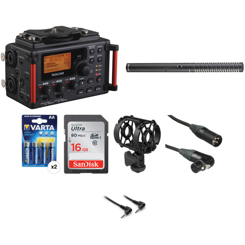 Tascam DR-60DmkII 4-Channel Portable Recorder with Rode NTG2 Condenser Shotgun Mic Kit