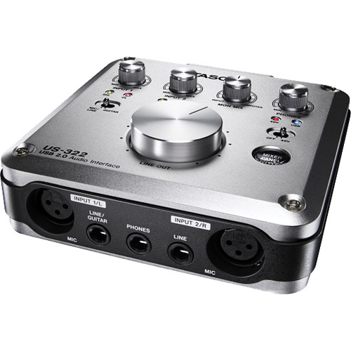 tascam us 322 usb 2 0 audio interface with dsp mixer us 322. Black Bedroom Furniture Sets. Home Design Ideas