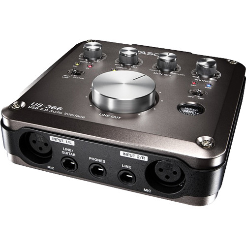 Tascam US-366- USB 2.0 Audio Interface with DSP Mixer