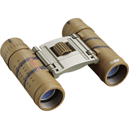 Tasco 8x21 Essentials Compact Binocular (Brown Camo)