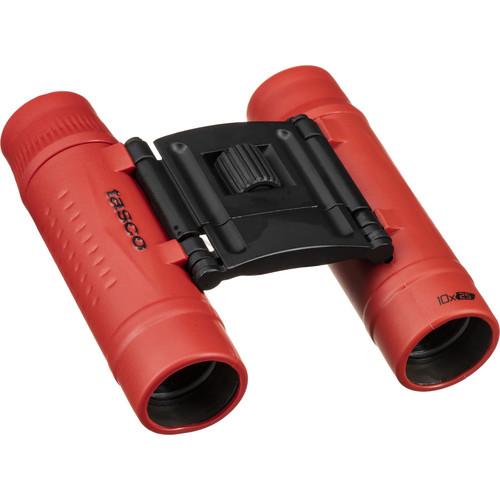 Tasco 10x25 Essentials Compact Binoculars (Red)