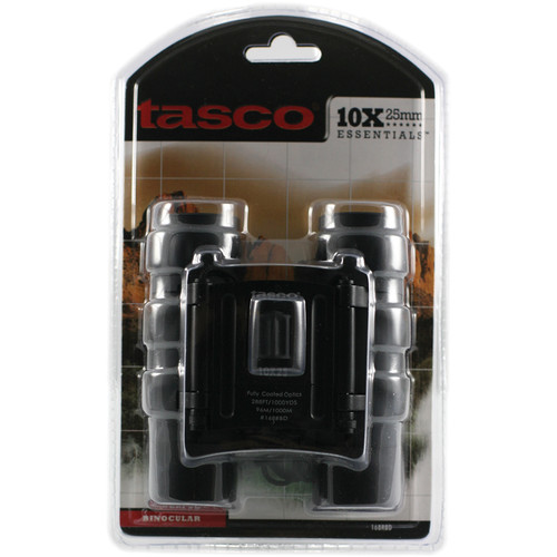 Tasco 10x25 Essentials Compact Binocular (Black, Clamshell Packaging)