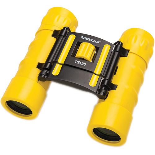 Tasco 10x25 Essentials Compact Binocular (Yellow)