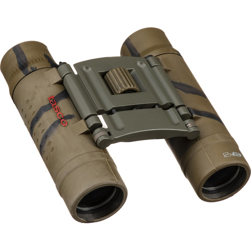 Tasco 12x25 Essentials Binocular (Brown Camo, Box)