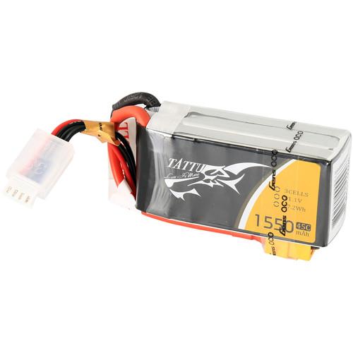 Tattu 45C LiPo Battery Pack (1550mAh, 11.1V, 3S1P)