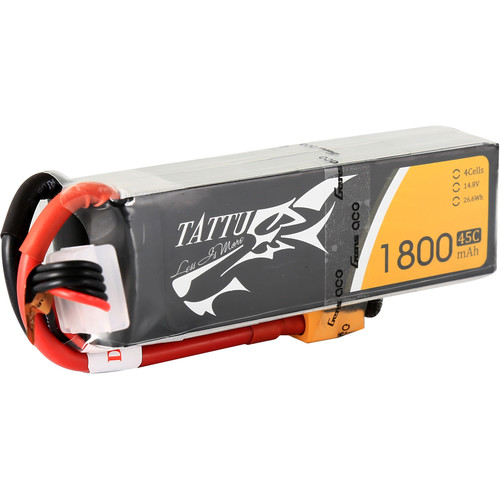Tattu 45C LiPo Battery Pack (1800mAh, 14.8V, 4S1P)