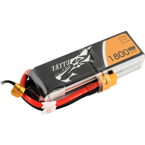 Tattu 75C LiPo Battery Pack (1800mAh, 14.8V, 4S1P)