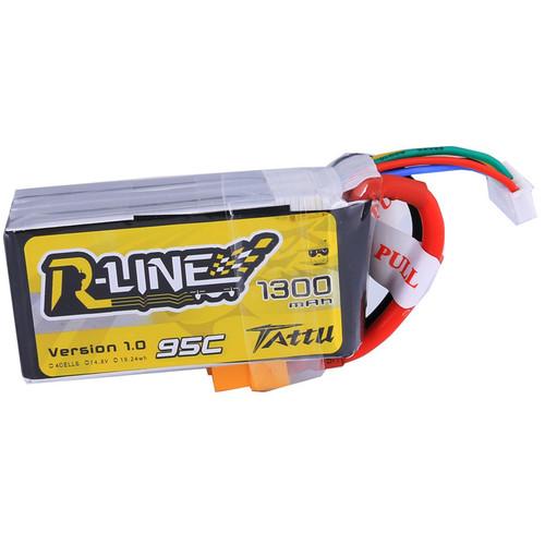 Tattu R-Line 1300mAh 95C 4S1P LiPo Battery Pack (With XT60 Plug)