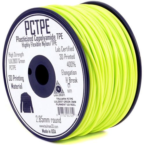 taulman3D 2.85mm PCTPE Filament (LulzBot Green, .5kg, 490')