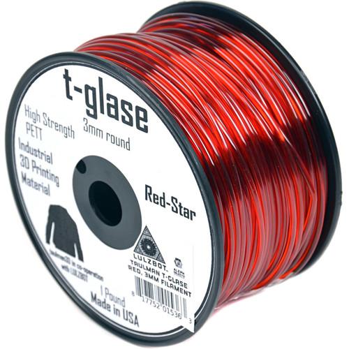 taulman3D 2.85mm t-glase Filament (Red, 0.5kg, 512')