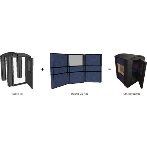 Taytrix 9-Piece Gobo Package Kit with StackIt 4 x 4 Booth