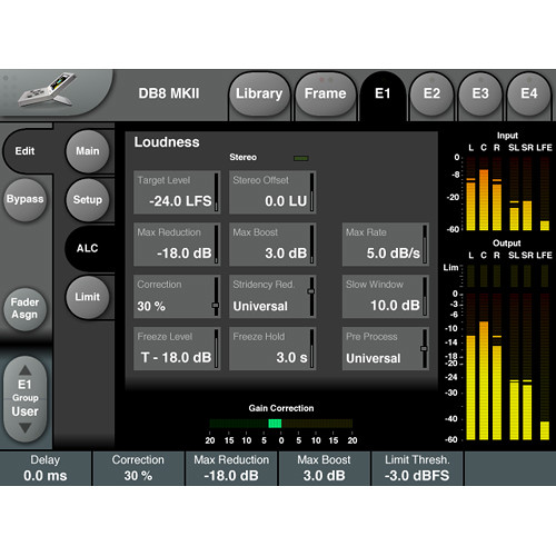 TC Electronic Live Aid ALC6 Loudness Correction & DMix Peak Limiting - License for System 6000 MKII