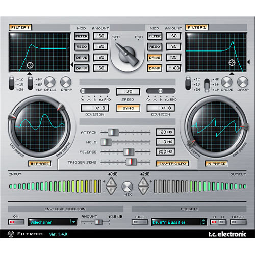 TC Electronic Filtroid - Dual Filter Bank Plug-In for PowerCore