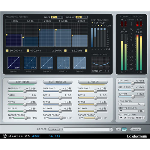 TC Electronic MasterX5 - Virtual Finalizer Plug-In for Powercore