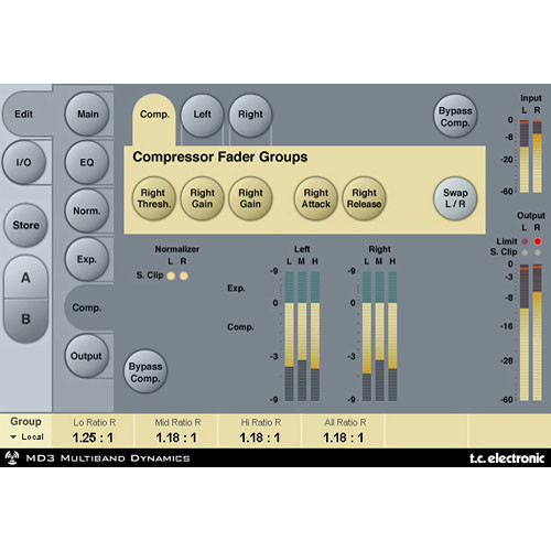 TC Electronic MD3 Stereo Mastering - Dynamics Plug-In for PowerCore