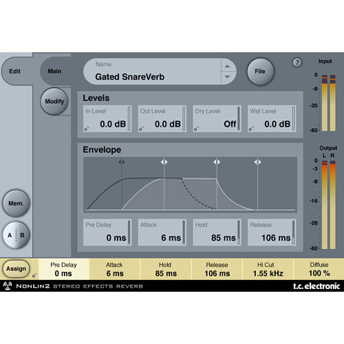 TC Electronic NonLin2 - Stereo Effects Reverb Plug-In for PowerCore