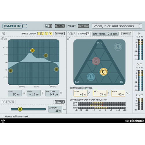 TC Electronic Fabrik C - Channel Strip Plug-In for PowerCore