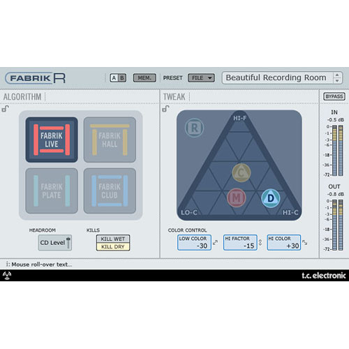 TC Electronic Fabrik R - Multiple Reverb Plug-In for PowerCore