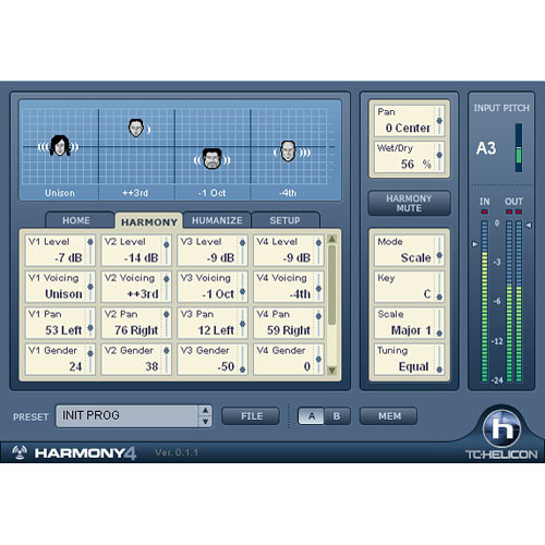 TC Electronic Harmony4 - Intelligent Vocal Harmony for PowerCore