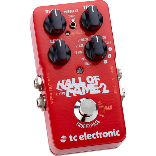 TC Electronic Hall Of Fame 2 Reverb Pedal for Electric Guitars