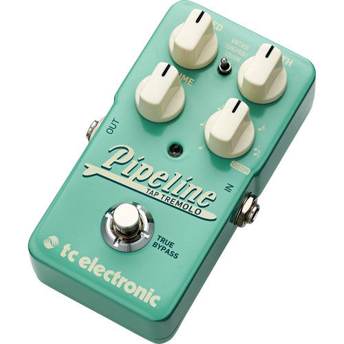 TC Electronic Pipeline Tap Tremolo Pedal for Electric Guitar