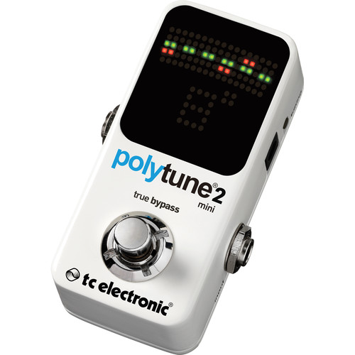 TC Electronic PolyTune 2 Mini Compact Polyphonic Guitar Tuner