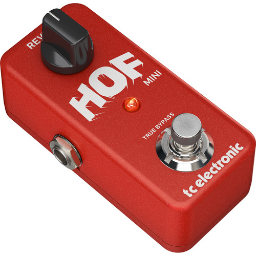 TC Electronic Hall of Fame Mini Reverb Pedal for Electric Guitars