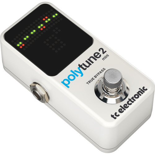 TC Electronic POLYTUNE 2 MINI Polyphonic Tuner Pedal for Electric Guitar