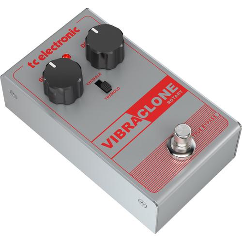 TC Electronic VIBRACLONE Rotating Speaker Emulator Pedal for Electric Guitars