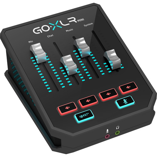 TC-Helicon GoXLR Mini Online Broadcast Mixer with USB/Audio Interface and Midas Preamp