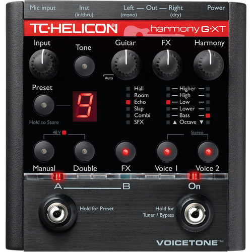 TC-Helicon VoiceTone Harmony-G XT Guitar & Vocal Harmony Pedal