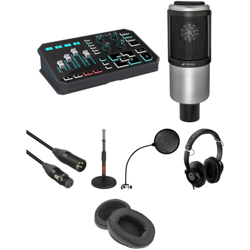 TC-Helicon GoXLR Kit with Microphone, Desktop Stand, Cables & Headphones
