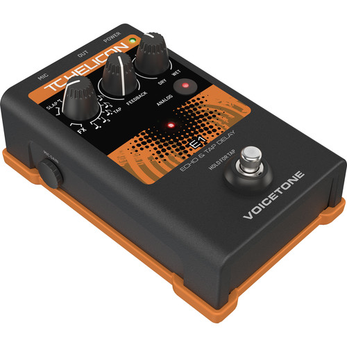 TC-Helicon VOICETONE E1 Single-Button Stompbox for Vocal Echo Effects