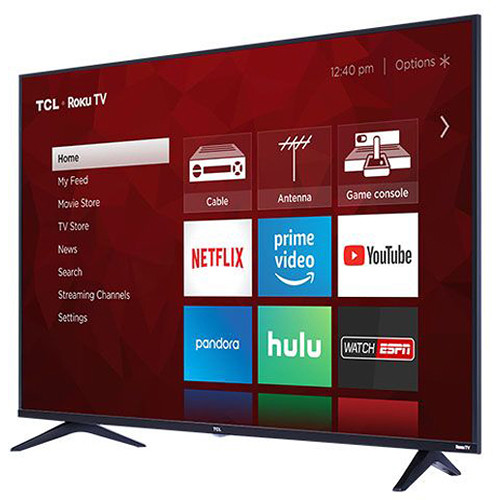 """TCL S517 49"""" Class HDR 4K UHD Smart LED TV"""