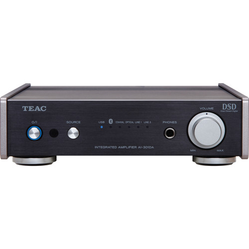 Teac AI-301DA-B Pre-Main Amplifier with Bluetooth, USB, and Digital-to-Analog Converter (Black)