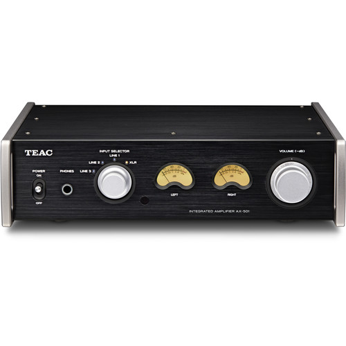 Teac AX-501-B Integrated Amplifier with Balanced Analog Inputs (Black)