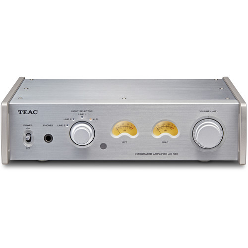 Teac AX-501-S Integrated Amplifier with Balanced Analog Inputs (Silver)