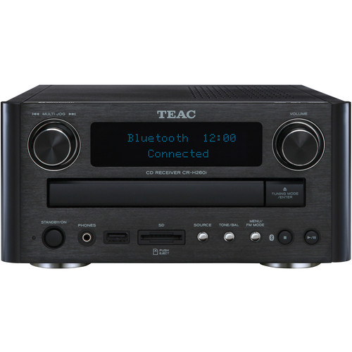 Teac CR-H260IB CD/SD Receiver with Bluetooth (Black)