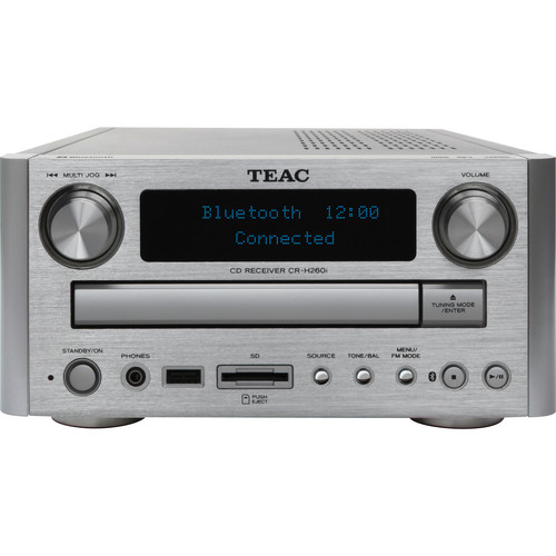 Teac CR-H260IS CD/SD Receiver with Bluetooth (Silver)