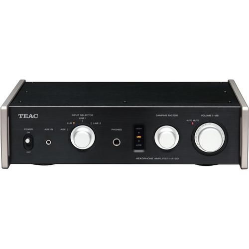Teac HA-501 Full Analog Dual-Monoaural Headphone Amplifier (Black)