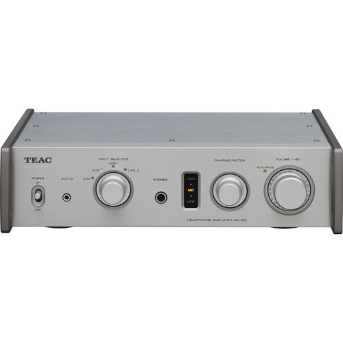 Teac HA-501 Full Analog Dual-Monoaural Headphone Amplifier (Silver)