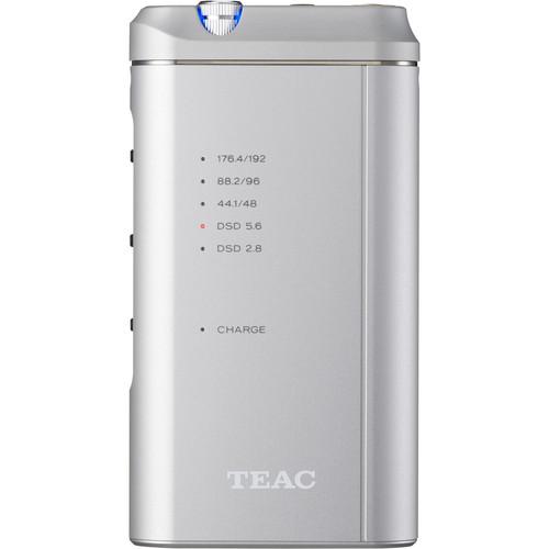 Teac HA-P5-S Portable High-Resolution USB DAC with Headphone Amplifier (Silver)
