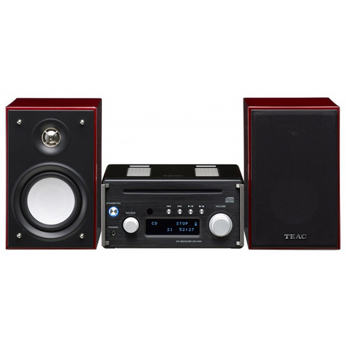 Teac High-Resolution CD Micro System (Black/Cherry)