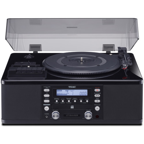 Teac LP-R660USB-PB Turntable with CD Recorder, Cassette Deck, & AM/FM Tuner